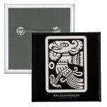 Botón azteca de Cuauhtli - de Eagle (masilla) Pins
