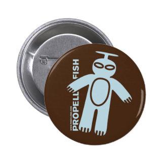 Botón azul claro de PROPELLERFISH Pins