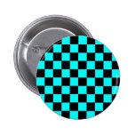 botón azul claro pin