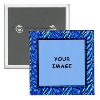Botón azul colorido del marco de la foto pins