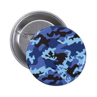 Botón azul de encargo de Camo