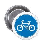 Botón azul de la bicicleta pins