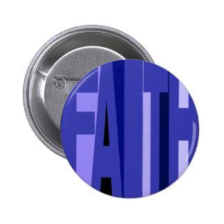 Botón azul de la fe pin
