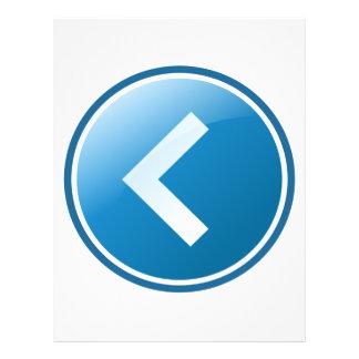 """Botón azul de la flecha - dejado folleto 8.5"""" x 11"""""""