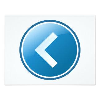 """Botón azul de la flecha - dejado invitación 4.25"""" x 5.5"""""""