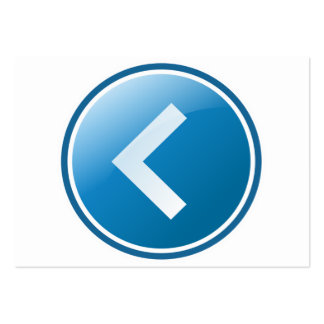Botón azul de la flecha - dejado tarjetas de visita grandes