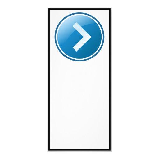 Botón azul de la flecha - derecho lona publicitaria