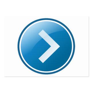 Botón azul de la flecha - derecho tarjetas de visita grandes