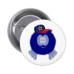 Botón azul de la gorra de béisbol pin