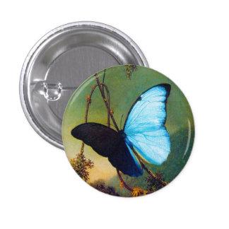 Botón azul de la mariposa de Morpho Pins