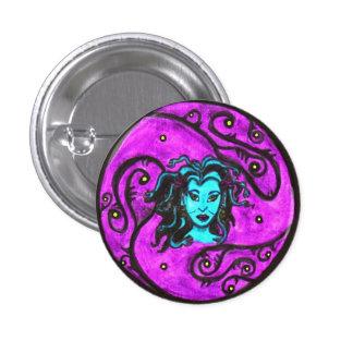 Botón azul de la medusa pins