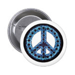 botón azul de la paz pin