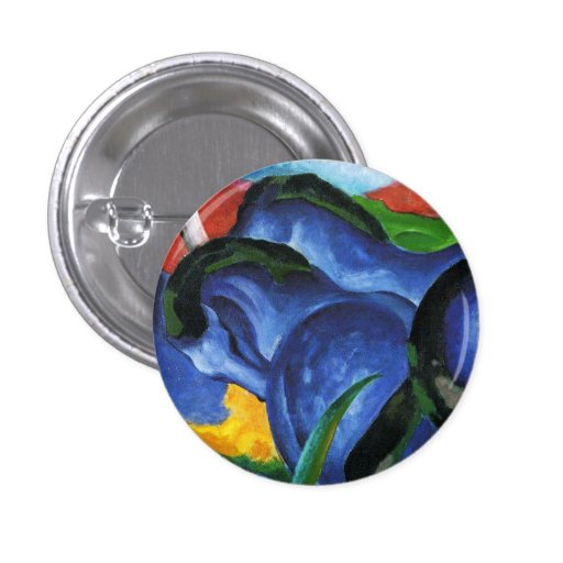 Botón azul de los caballos de Franz Marc Pins