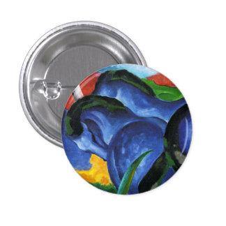Botón azul de los caballos de Franz Marc Pin Redondo De 1 Pulgada
