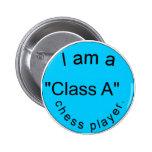 botón azul del ajedrez de la clase A Pin