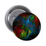 Botón azul del arte abstracto de la génesis (redon pin