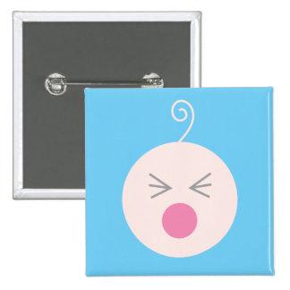 Botón azul del bebé del grito pin