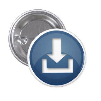 Botón azul del botón pins
