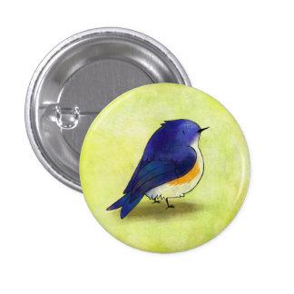 Botón azul del chirrido pin redondo de 1 pulgada