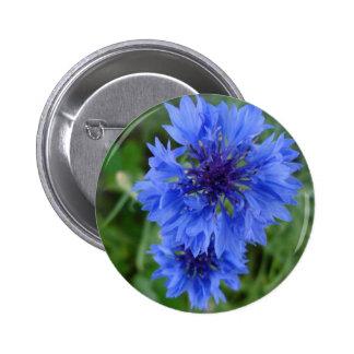 Botón azul del Cornflower Pin
