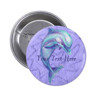 Botón azul del delfín pins