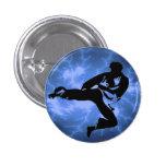 Botón azul del hombre del relámpago pin