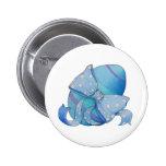 Botón azul del huevo pin