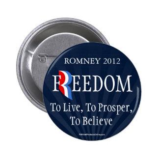 Botón azul del Pin de la solapa de la libertad de