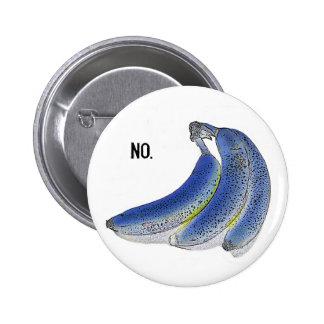 botón azul del plátano pins