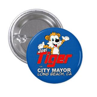 Botón - azul del tigre pin