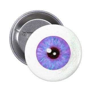 Botón azul espeluznante del globo del ojo de Laven Pin