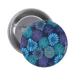 Botón azul japonés pins