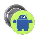 Botón azul lindo del robot pin