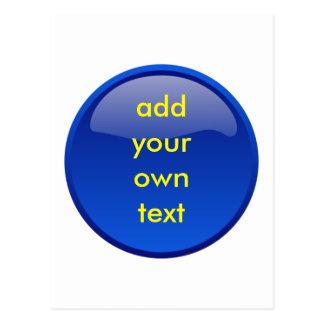 botón azul marino postales