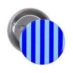 Botón azul marino y azul claro de las rayas pin
