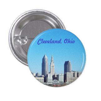 Botón azul soleado de Cleveland Ohio Pin Redondo De 1 Pulgada