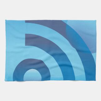 Botón azul subacuático del icono de la señal toallas de mano