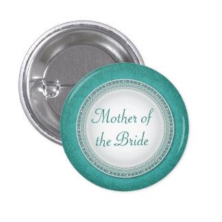 Botón barroco del papel del boda de la placa de la pin redondo de 1 pulgada