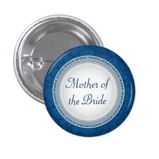 Botón barroco del papel del boda de la placa del pin redondo de 1 pulgada
