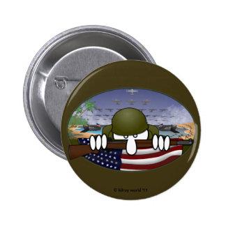 Botón básico de Kilroy de la guerra mundial 2 Pin Redondo De 2 Pulgadas