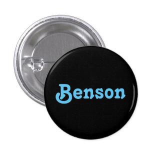 Botón Benson Pin Redondo De 1 Pulgada
