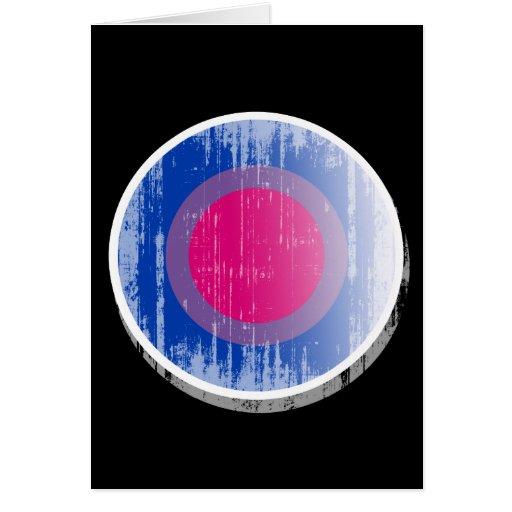 Botón bisexual distressed.png del orgullo tarjeta de felicitación