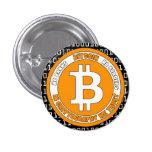 Botón Bitcoin - M2 Pin Redondo De 1 Pulgada