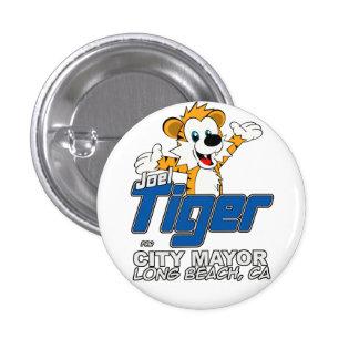 Botón - blanco con el logotipo estándar pin