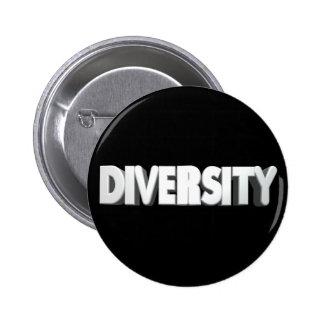 Botón blanco de la diversidad de la letra pin redondo de 2 pulgadas