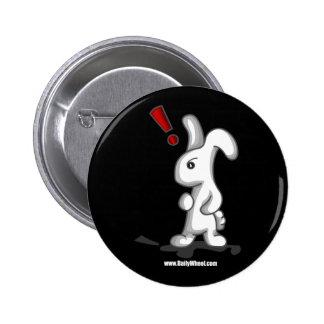 Botón blanco de la sorpresa del conejito pin