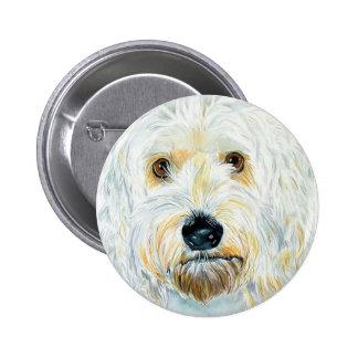 Botón blanco de Labradoodle Maggie Pin