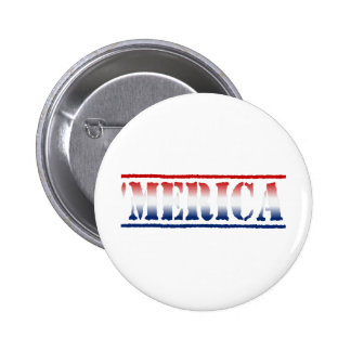 'Botón blanco de MERICA y azul rojo Pin