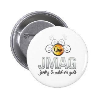 Botón blanco del logotipo de OJMAG