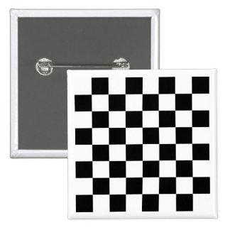 Botón blanco del tablero de ajedrez pin